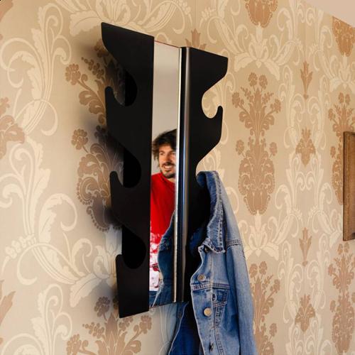 L'Emile Et Son Wave Coat Rack Mirror JME Brands All Interesting Wave Coat Rack