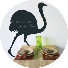 Giant Chalkboard sticker - Ostrich