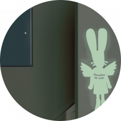 Phosphorescent Sticker - Fairy bunny