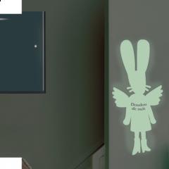 Phosphorescent Sticker - Fairy bunny
